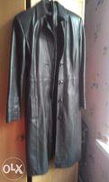 дешево продам женское пальто из натуральной кожи