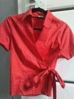 Bluzka czerwona wiązana 42 elegancka
