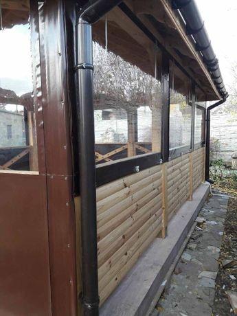 Прозрачные защитные шторы для беседок и террас из ПВХ Киев