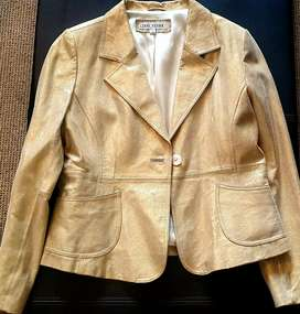 LADIES IMPORTED  GOLD JACKET (M) LIKE BRAND NEW
