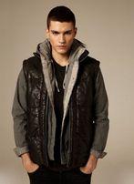 All Saints Allsaints кожаный пуховик S M 38 зимняя куртка олсейнтc