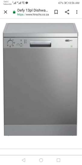 Defy 13 plate setting dish washer