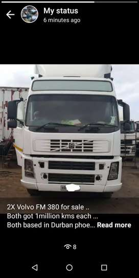 2X Volvo FM 380 for sale ..  Both 2005 engine is D12 .