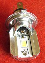 Лампа H4 LED светодиодная для мотоцикла мотороллера скутера 8 Вт W