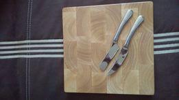 deska drewniana do krojenia z nożami do sera nowe