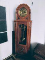 ANTYK ZABYTEK 100-letni Zegar wahadłowy z wagą