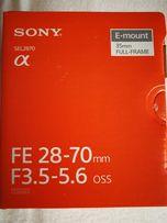Sony fe obiektyw nowy