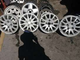15, 4 holes 108 PCD Mag Rims for sale