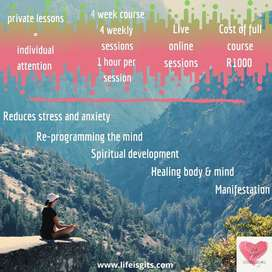 Learn to meditate- individual live online classes
