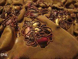 продам женскую сумку коричневую расшитую бисером