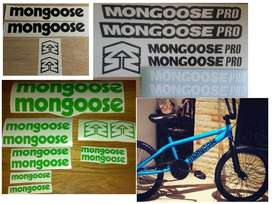 Mongoose bicycle frame stickers decals