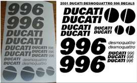 2001 Ducati 996 decals graphics / vinyl cut sticker set
