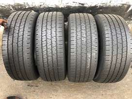 265 60 R18 Continental CrossContact Tyres (With 80% Thread)