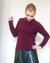 Bordowy sweterek H&M rozmiar S