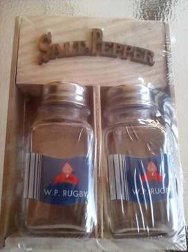 Western Province Rugby Glass Condiment Set Brand New Products.