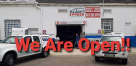 We Are Open for Sales n Repairs to All Canopies