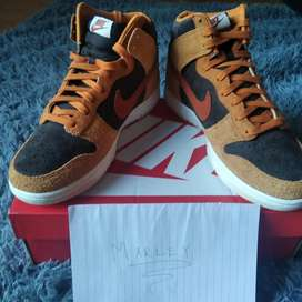 "Nike dunk high dark russet pen ""Curry"""