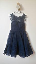 Vinceenz Granatowa sukienka wesele bal studiówka rozmiar 36