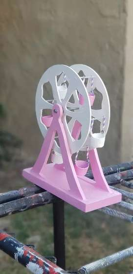 Pink and white fairest wheel