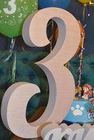 праздничная цифра три, троечка на день рождения, декор, имя , топпер