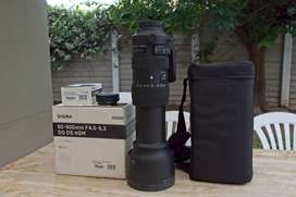 Sigma 60-600mm f4.5-6.3 DG OS HSM lens for Nikon