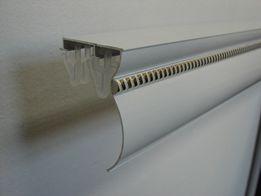 Карниз алюминиевый К3 Белый двухрядный с одним молдингом (косичкой)
