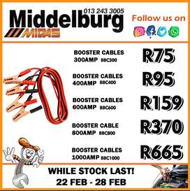 Booster Cables available at Middelburg Midas -Sparesworld