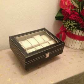 Gift Ideas! 10 grid Watch Display Case/ Jewellery Case