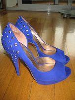 Продам синие замшевые туфельки!