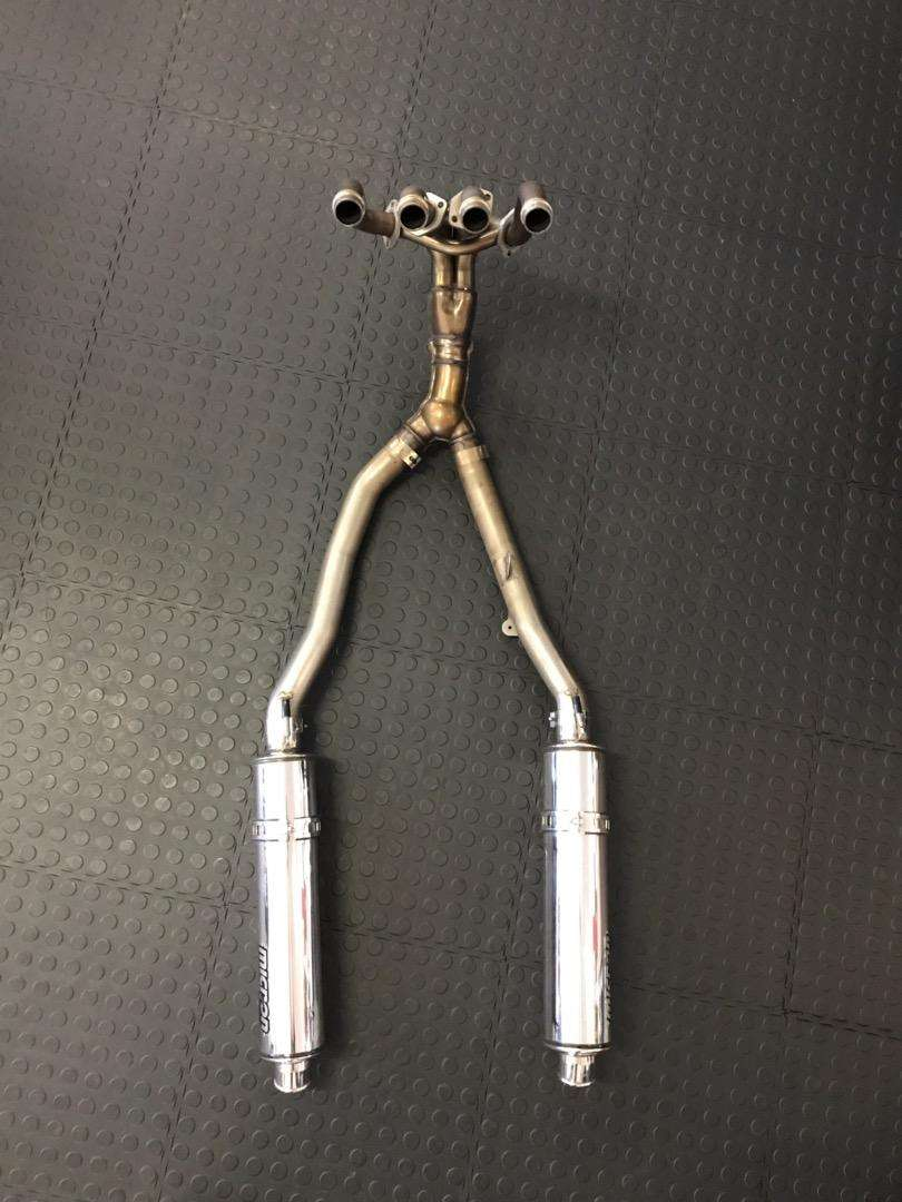 Kawasaki zx14 complete exhaust Micron silencers 0