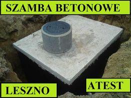Szamba betonowe na ścieki 8m3 szambo zbiornik zbiorniki Leszno od 4-12