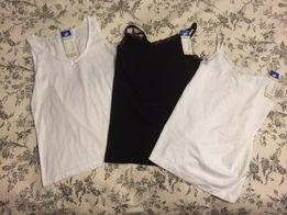 Podkoszulka bokserka top biały czarny nowy koronka koszulka h&m zara