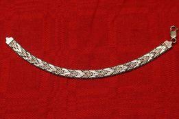 Bransoletka srebrna lejąca