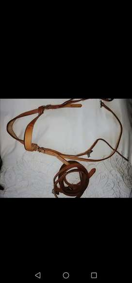 Horse leather bridle and reins for sale