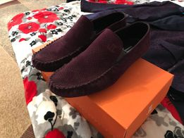 мужские туфли замшевые вишневые