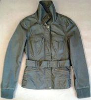 Szara / khaki damska kurtka skórzana (imitacja) firmy ONLY, rozmiar 38
