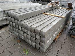 Słupek betonowy do sadu, siatki leśnej