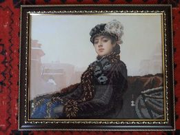 Продам картины бисером Незнакомка