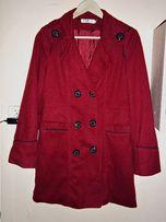 Płaszcz bordowy 40