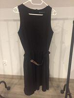 Zara sukienka czarna klasyczna L