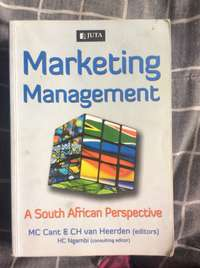 Image of marketing management a south African perspective Juta MC Cant