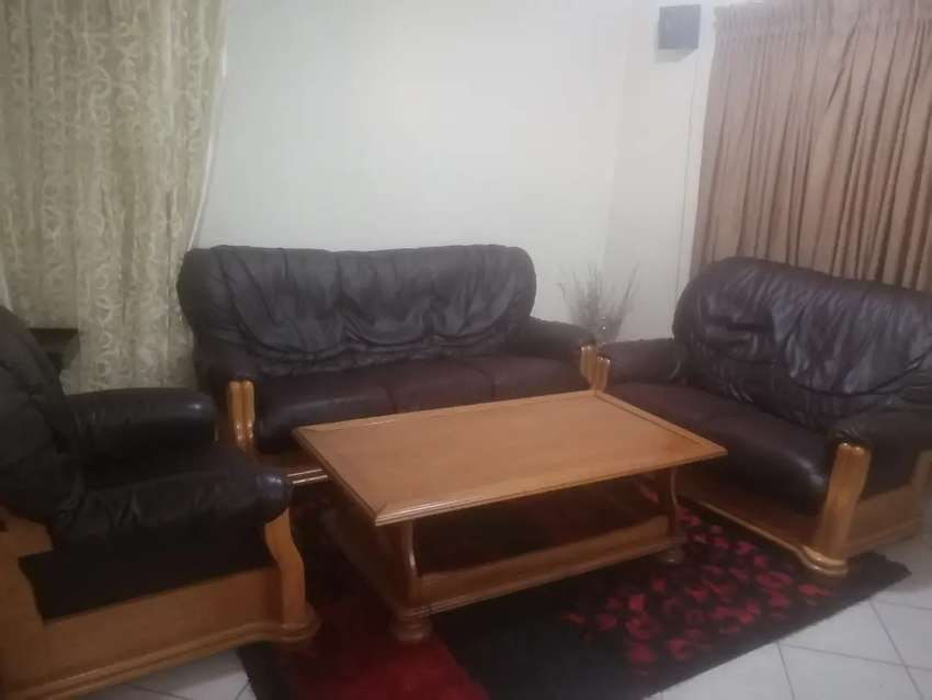 3 piece couches and table 0