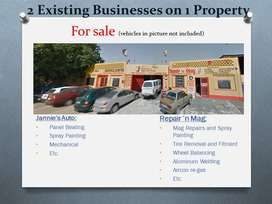 2 Business on 1 Property for Sale