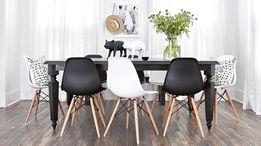 Krzesło białe czarne nowe nowoczesne krzesła skandynawskie