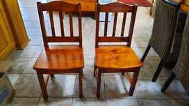 Varnished Pine chairs