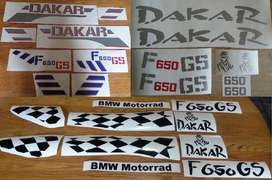 F650 GS Dakar vinyl cut decals stickers graphics sets