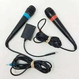 ony PS2 SingStar Mics and Adapter for sale