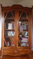 antyki,szafa-biblioteka,XIXw,czeresnia,po renowacji