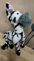 Zebra maskotka miękkie kończyny ręce uginają się nogi zginają się