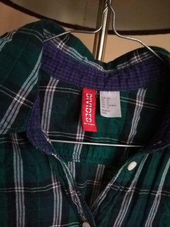 Koszula w kratę H&M rozmiar 34 zielona Ruda Śląska - image 5